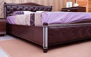 ✅ Деревянная кровать Прованс Мягкая спинка ромбы 120х190 см ТМ Аурель (Олимп), фото 2