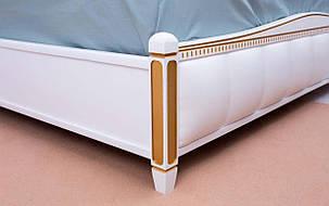✅ Деревянная кровать Прованс Мягкая спинка квадраты с механизмом 120х190 см ТМ Аурель (Олимп), фото 2
