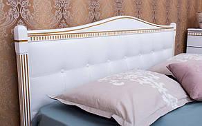 ✅ Дерев'яне ліжко Прованс М'яка спинка квадрати з механізмом 120х190 см ТМ Аурель (Олімп), фото 2