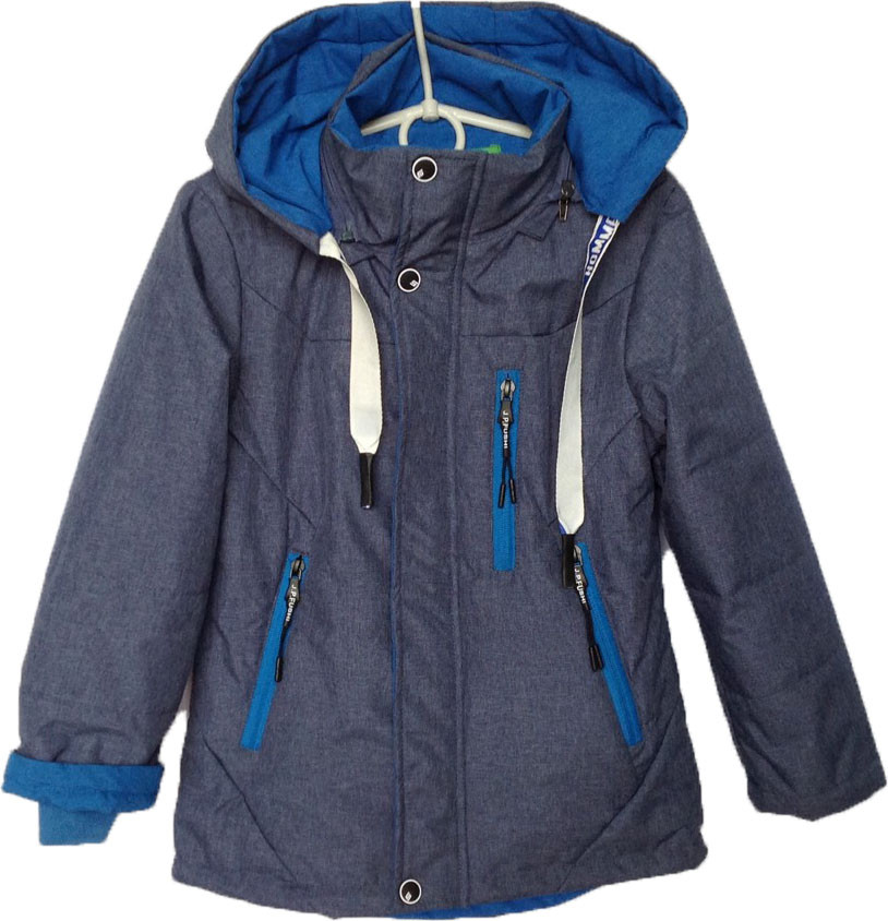 """Куртка детская демисезонная """"IsYiqida"""" #7-804 для мальчиков. 4-5-6-7-8 лет. Серая. Оптом."""