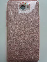 Силиконовая накладка Gliter для Huawei Y5 II /Honor Play 5 (Pink)
