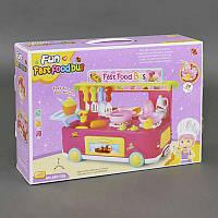 Игровой набор для детей Кафе быстрого питания звук, свет, 29 деталей, в коробке