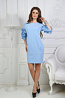 Нежно-голубое красиво платье