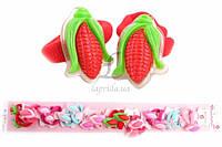 Детская резинка для волос Ochna (разноцветная) с украшением в виде кукурузы, резинка для девочек, аксессуары для создания причесок и образов, детская