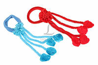 Резинка детская Angraecum для волос с бантиком и помпонами (разноцветная), резинка для девочек, аксессуары для создания причесок и образов, детская