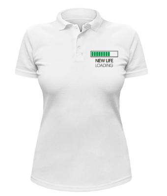 Женская футболка-поло New Life loading