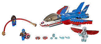 Лего Супер Герои Оригинал Воздушная погоня Капитана Америка LEGO Super Heroes Captain America 76076