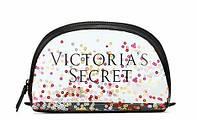 Прозрачная косметичка на молнии Victoria's Secret с принтом пайетки