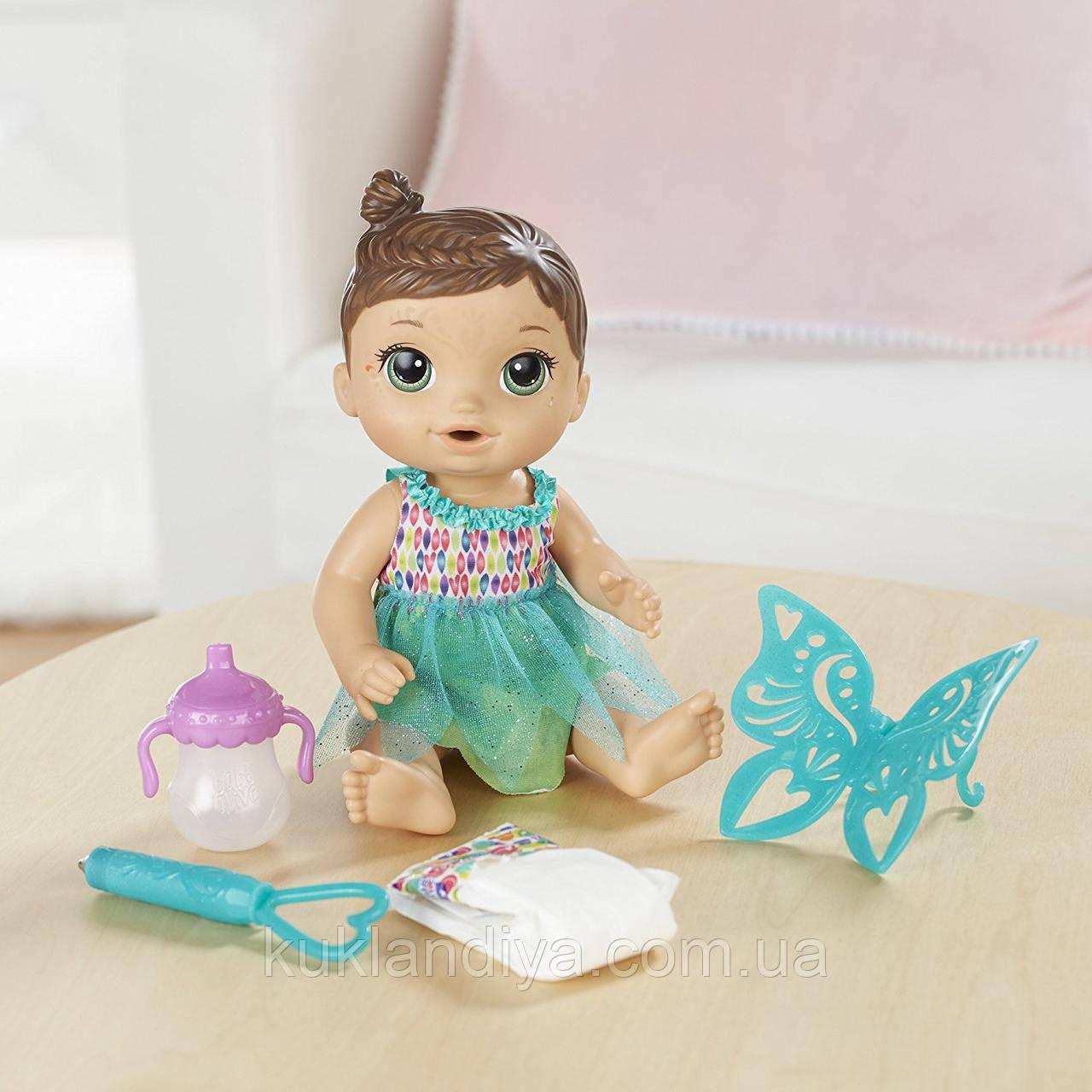 Baby Alive Кукла пупс Малышка Фея брюнетка Face Paint Fairy