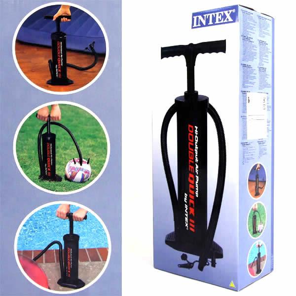 Насос 68615 ручной механический Intex, размер упаковка : 20 см × 12 см × 48 см