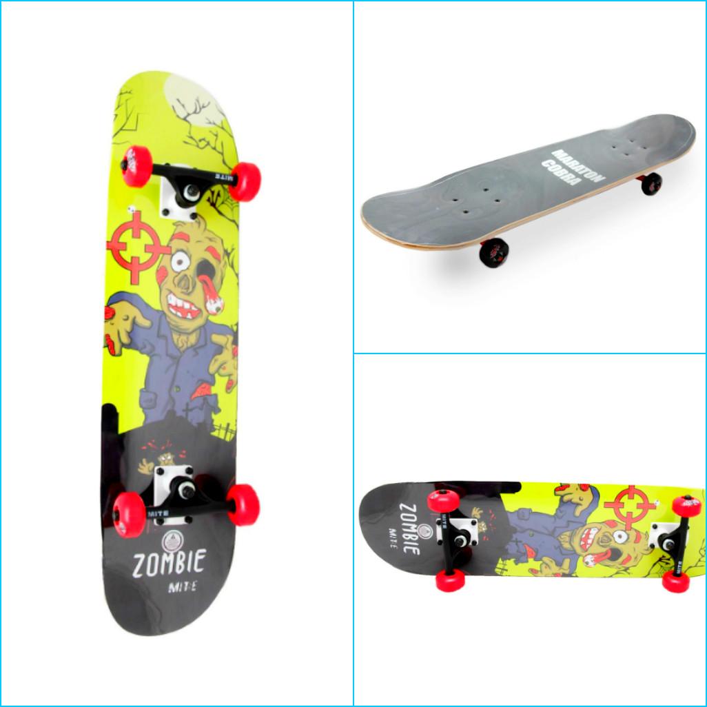 Скейтборд COBRA MITE ZOMBIE для детей и подростков, до 85 кг