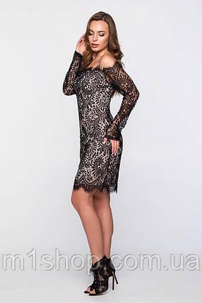 Женское гипюровое платье с открытыми плечами (2310sk), фото 2