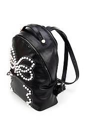 Женский черный рюкзак из экокожи (20-05)