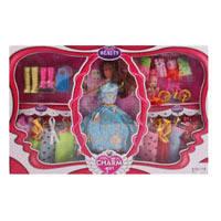 Кукла с нарядом 093E (30шт) 27см,дочка10см,платье8шт,велосипед,обувь,микс видов,в кор_ке,51_33_6см