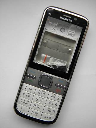 Корпус Nokia C5 00 белый + клавиатура class AAA, фото 2