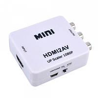 Конвертер AV в HDMI Toslink 3 RCA выход HDMI