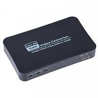 Конвертер AV+RGB+VGA+USB в HDMI, MT-PC401 с пультом ДУ