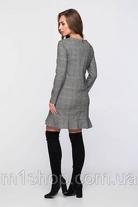 Женское платье из клетчатой костюмной ткани (2323sk), фото 2
