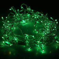 Гирлянда DELUX STRING 200LED 10m зеленая/белый провод, внешняя