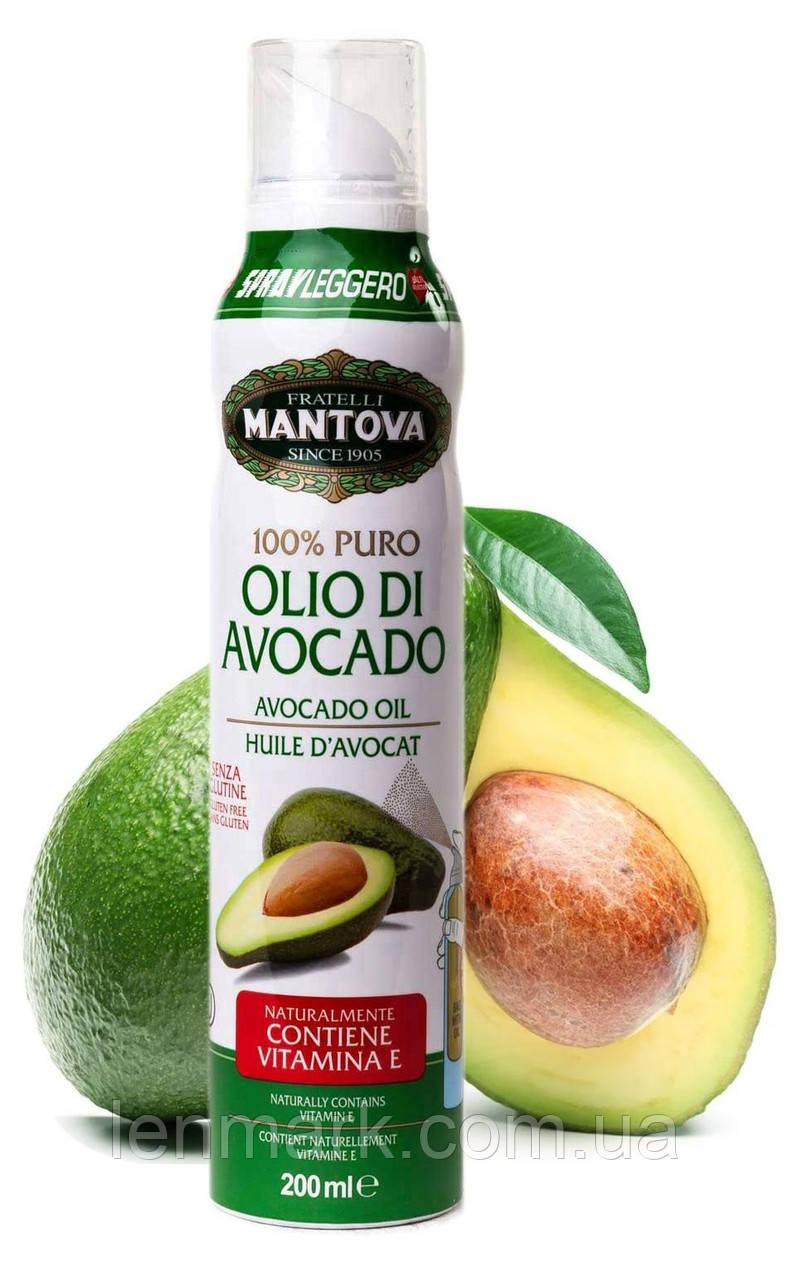 Масло авокадо в спрее Fratelli MANTOVA первого холодного отжима Olio di Avocado 100% puro 200 мл