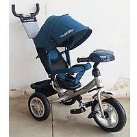 Трехколесный велосипед колясочного типа с фарой и ключом зажигания M 3115HAJ-10 на надувных колесах