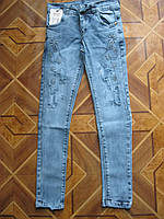 Детские модные стрейчевые джинсы для девочек 134-140 см  Турция, фото 1