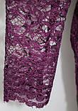 Женская блуза ажурная,блузка кружевная, фиолетовая Турция, фото 3