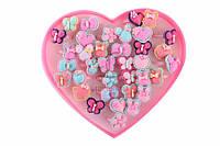 Набор детских колец Dillenia (разные цвета) в виде цветочков, животных, фруктов и героев Дисней, яркая бижутерия для детей, колечки для девочек,