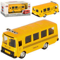 Автобус 6523E (96шт) металл,инер_й,11см,1:61,откр.двери, рез.колеса, в кор_ке,15,5_7,5_6см