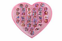"""Набор детских колец Aiphanes (разные цвета) с героями Дисней """"Холодное сердце"""", яркая бижутерия для детей, колечки для девочек, детская бижутерия,"""