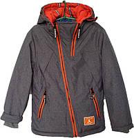 """Куртка подростковая демисезонная """"TW JM"""" #828 для мальчиков. 7-8-9-10-11 лет. Серая. Оптом., фото 1"""