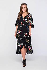 Женское вискозное платье с цветочным принтом (2322sk)