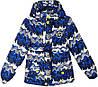 """Куртка детская демисезонная """"11"""" #6-3 для мальчиков. 5-6-7-8 лет. С синим принтом. Оптом."""