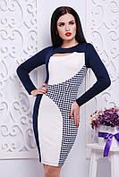 """Платье """"Герда""""темо-синий+белый"""