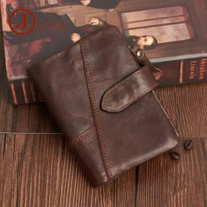 Мужской кожаный кошелек с натуральной кожи (коричневий)