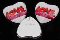 (Цена за 50шт) Серединки акриловые Legousia, размер 2,5 см, материал акрил, форма сердечко, для одежды, акриловые бусины, товары для рукоделия,