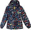 """Куртка детская демисезонная """"11"""" #6-3 для мальчиков. 5-6-7-8 лет. С красно-голубым принтом. Оптом."""