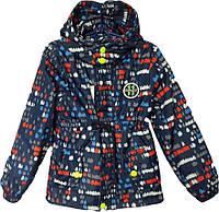 """Куртка детская демисезонная """"11"""" #6-3 для мальчиков. 5-6-7-8 лет. С красно-голубым принтом. Оптом., фото 1"""