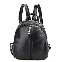 Рюкзак черный женский с заклепками код 3-268