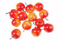 (Цена за 50шт) Яблоко для декора Summer, пенопласт, диаметр 5 см, круглое, красный бочок, фрукты для скрапбукинга