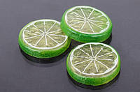 (Цена за 50шт) Мандарин декоративный Mandarin, форма круглая, желтый, пластик, товары для дома, Искусственные фрукты для декора