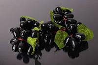 (Цена за 50шт) Виноград декоративный Grape, пластик, гроздь, синий, декор для дома, фрукты для декора, Искусственные фрукты для декора