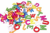 (Цена за 90шт) Мини декор буквы Радуга, разноцветные, материал дерево, английские буквы, буквы для декора, мини буквы для рукоделия