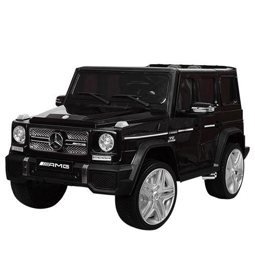 Детский электромобиль M 3567 EBLR-2 (Mercedes G65 VIP): 90W, 8 км/ч, EVA, кожа - ЧЕРНЫЙ - купить оптом