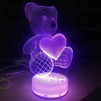 3D Светильник Мишка.