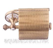Бронзовий тримач для туалетного паперу з кришкою KUGU Medusa 711A