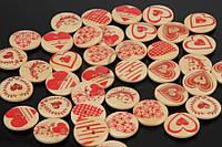 Пуговица декоративная Love, 2 отверстия, материал: дерево, пуговица для скрапбукинга, круглая, пуговицы для украшения
