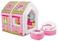 Надувной игровой центр Домик принцессы Intex 48635