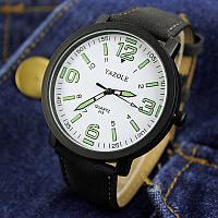 Часы мужские YAZOLE neon (Black/White)