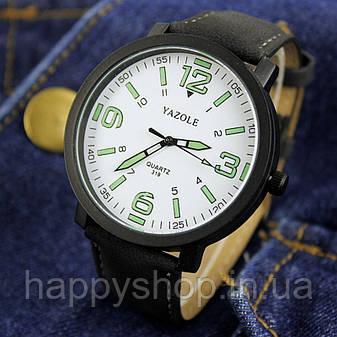 Часы мужские YAZOLE neon (Black/White), фото 2